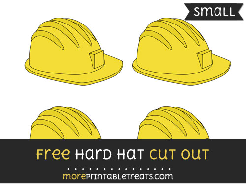 Free Hard Hat Cut Out - Small Size Printable
