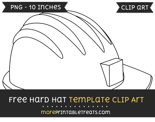 Free Hard Hat Template - Clipart