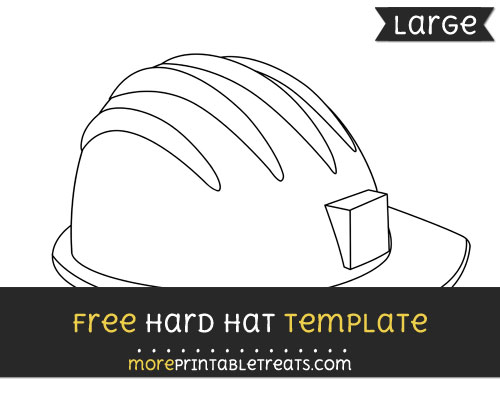 Free Hard Hat Template - Large