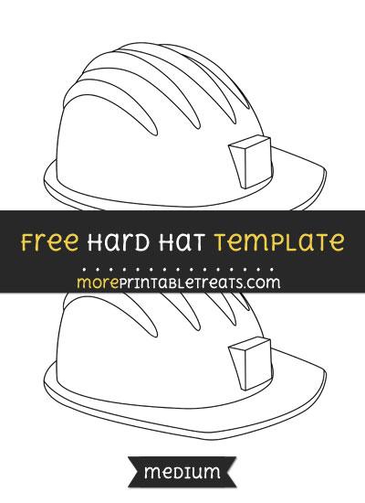 Free Hard Hat Template - Medium