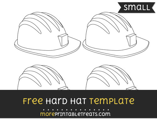 Free Hard Hat Template - Small