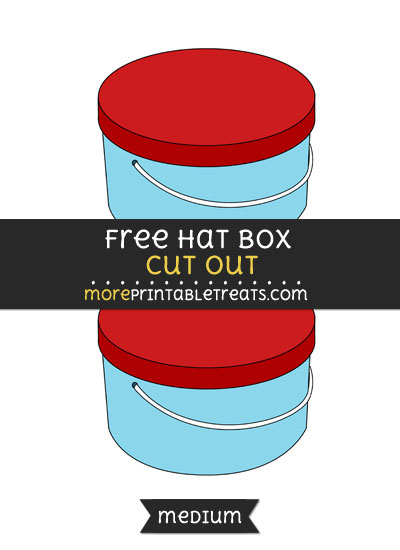 Free Hat Box Cut Out - Medium Size Printable