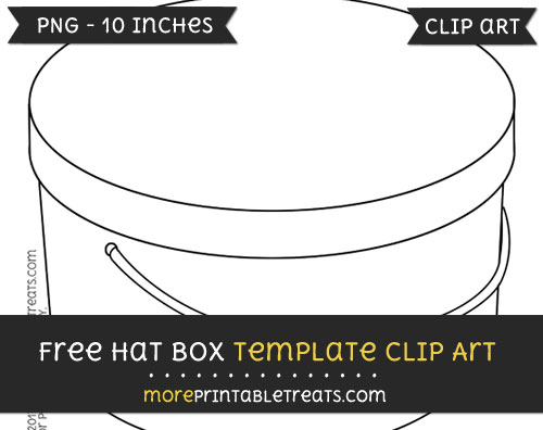Free Hat Box Template - Clipart