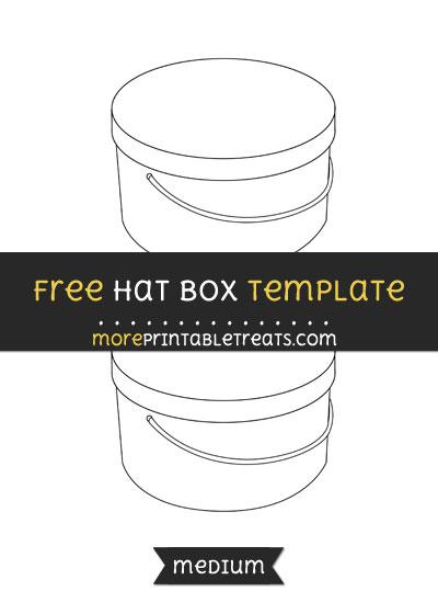 Free Hat Box Template - Medium