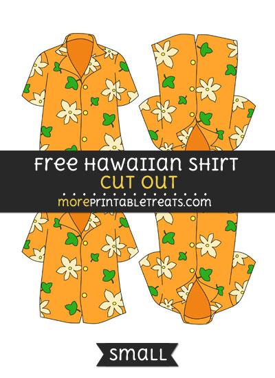 Free Hawaiian Shirt Cut Out - Small Size Printable