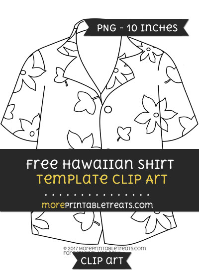 Free Hawaiian Shirt Template - Clipart