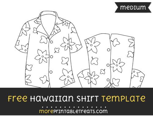 Free Hawaiian Shirt Template - Medium