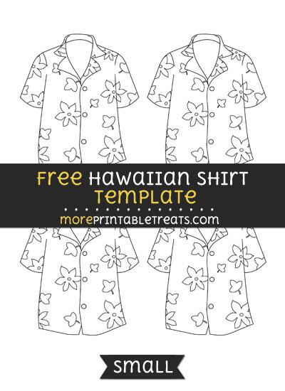 Free Hawaiian Shirt Template - Small