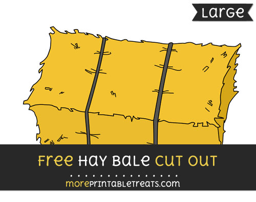 Free Hay Bale Cut Out - Large size printable