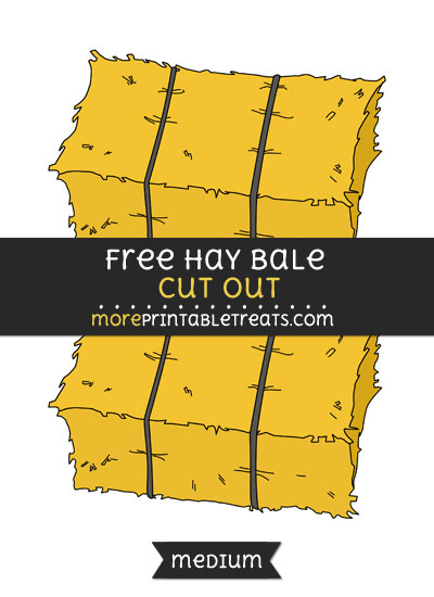 Free Hay Bale Cut Out - Medium Size Printable