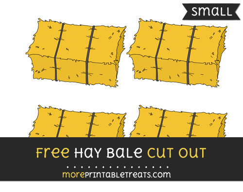 Free Hay Bale Cut Out - Small Size Printable