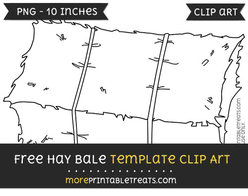 Free Hay Bale Template - Clipart