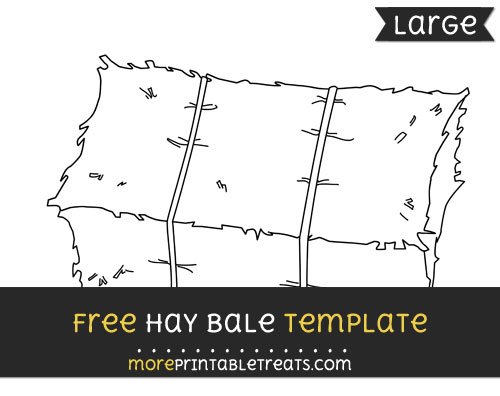 Free Hay Bale Template - Large