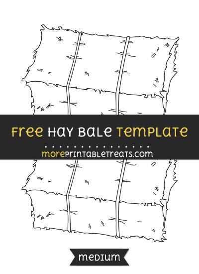 Free Hay Bale Template - Medium