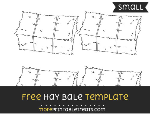 Free Hay Bale Template - Small