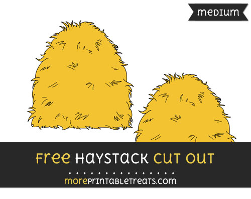Free Haystack Cut Out - Medium Size Printable