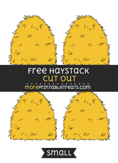 Free Haystack Cut Out - Small Size Printable