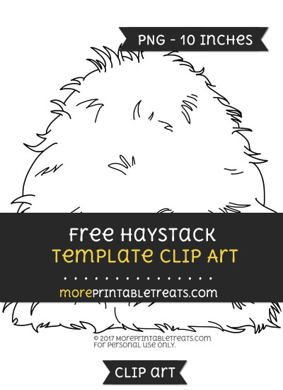 Free Haystack Template - Clipart