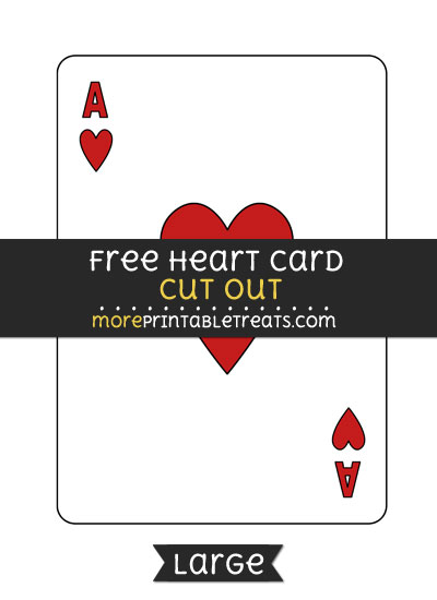 Free Heart Card Cut Out - Large size printable