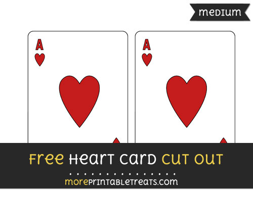 Free Heart Card Cut Out - Medium Size Printable