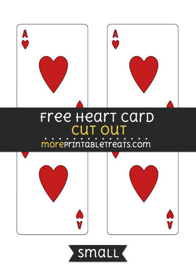 Free Heart Card Cut Out - Small Size Printable