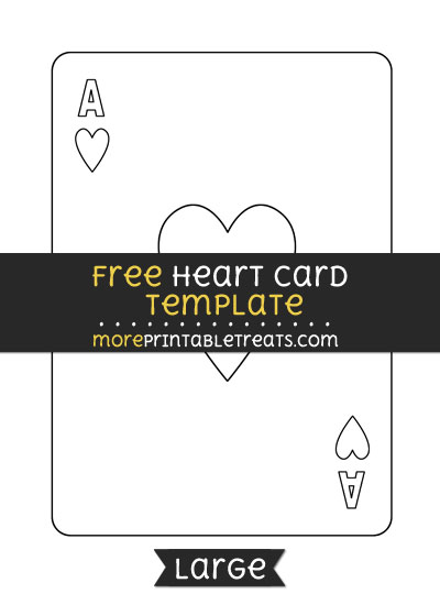 Free Heart Card Template - Large