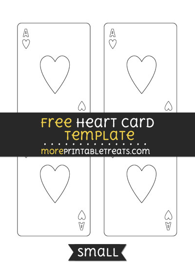 Free Heart Card Template - Small