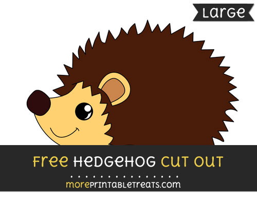 Free Hedgehog Cut Out - Large size printable