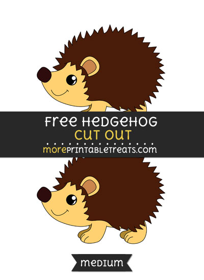 Free Hedgehog Cut Out - Medium Size Printable