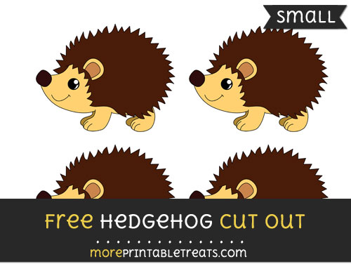 Free Hedgehog Cut Out - Small Size Printable