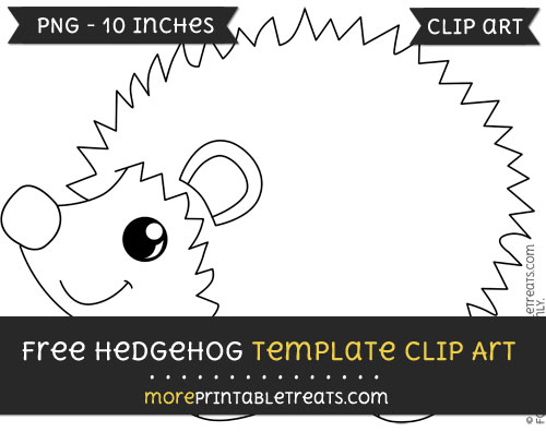Free Hedgehog Template - Clipart