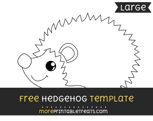 Free Hedgehog Template - Large