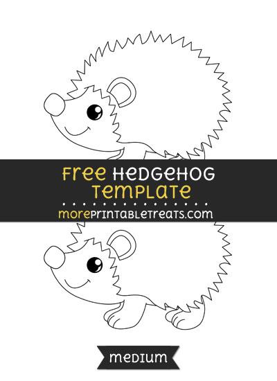 Free Hedgehog Template - Medium