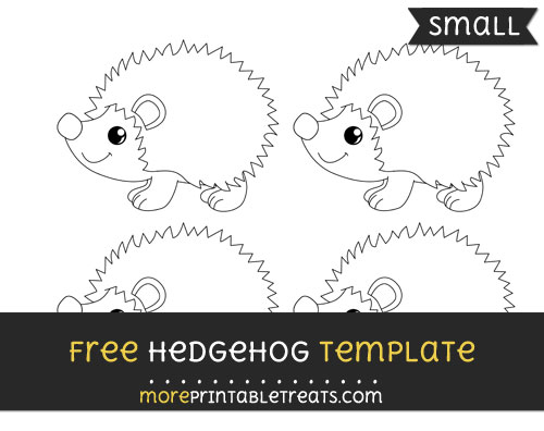 Free Hedgehog Template - Small
