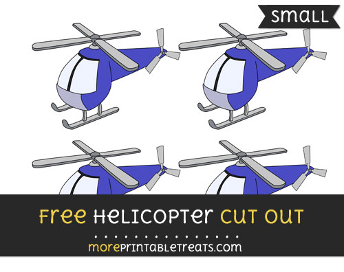 Free Helicopter Cut Out - Small Size Printable