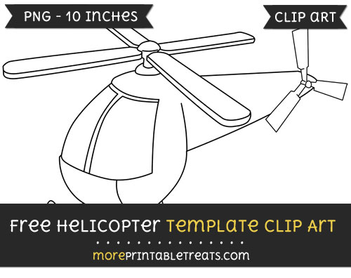 Free Helicopter Template - Clipart