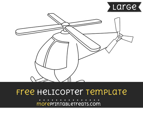 Free Helicopter Template - Large