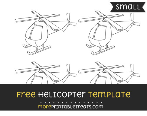 Free Helicopter Template - Small