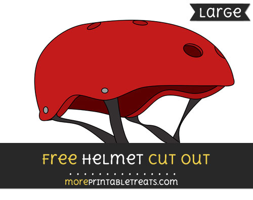 Free Helmet Cut Out - Large size printable