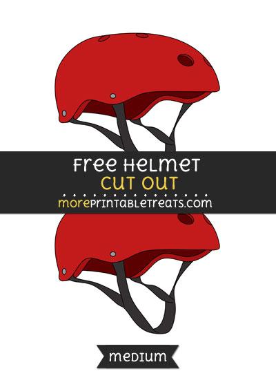 Free Helmet Cut Out - Medium Size Printable