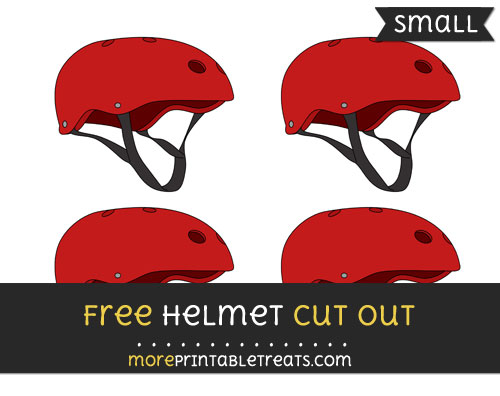Free Helmet Cut Out - Small Size Printable