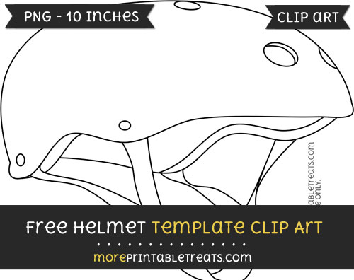 Free Helmet Template - Clipart