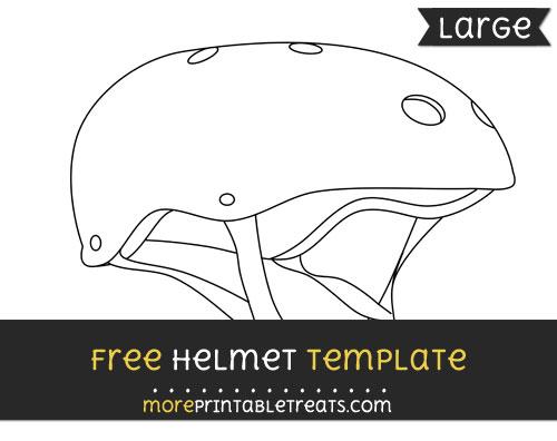 Free Helmet Template - Large
