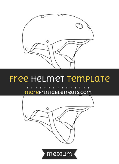 Free Helmet Template - Medium
