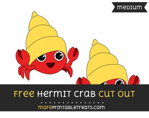 Free Hermit Crab Cut Out - Medium Size Printable