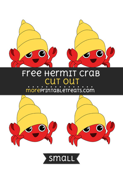 Free Hermit Crab Cut Out - Small Size Printable