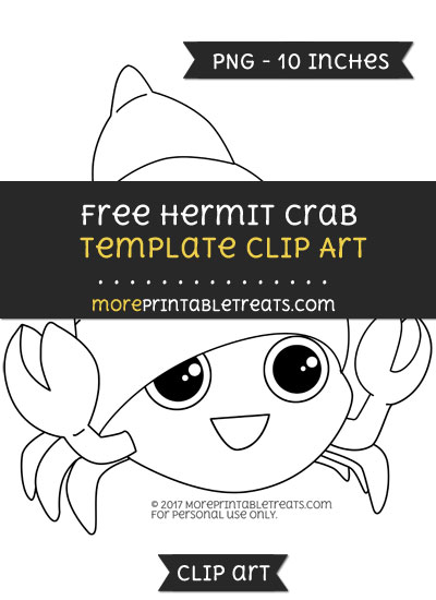 Free Hermit Crab Template - Clipart