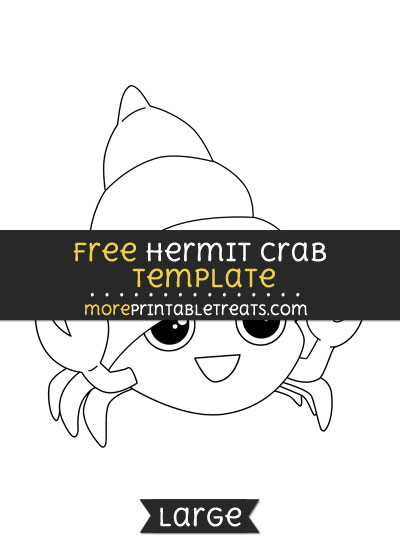 Free Hermit Crab Template - Large