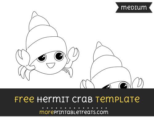 Free Hermit Crab Template - Medium