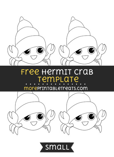 Free Hermit Crab Template - Small